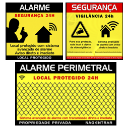 Placas sinalizadoras de Alarme